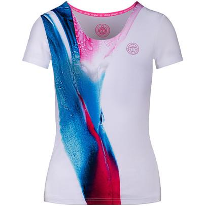 BIDI BADU Damen Eve Tech Roundneck Tee T-Shirt dunkelblau NEU